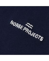 Norse Projects Blue Niels Wave Logo T-shirt for men