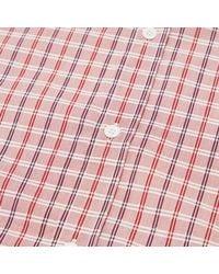 Maison Kitsuné Red Classic Button Down Check Shirt for men