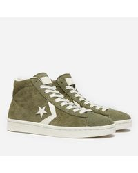 Converse Green Pro Leather Mid Suede for men