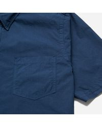 Norse Projects - Blue Anton Garment Dyed Poplin Short Sleeve Shirt for Men - Lyst