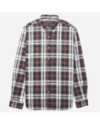 Beams Plus | Brown Button Down Twill Check Shirt for Men | Lyst
