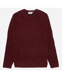 Carhartt WIP Red Carhartt Anglistic Sweater for men
