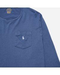 Polo Ralph Lauren Blue Long Sleeve T-shirt for men