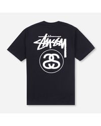 Stussy Blue Stock Link T-shirt for men