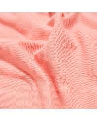 Patagonia Pink Belwe Pique Polo Shirt for men