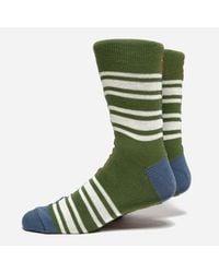 Anonymous Ism - Multicolor Diffa Border Crew Socks for Men - Lyst