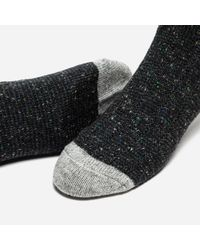 Anonymous Ism - Black Tweed Nep Socks for Men - Lyst