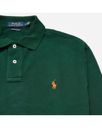 Polo Ralph Lauren - Green Long Sleeve Polo Shirt for Men - Lyst