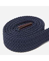Barbour - Blue Stretch Webbing Belt for Men - Lyst