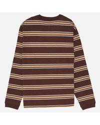 Manastash - Brown Nerdy Border Long Sleeve T-shirt for Men - Lyst