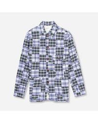Universal Works Blue Norfolk Bakers Jacket for men