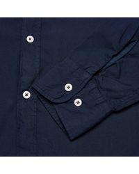 Universal Works - Blue Poplin Stoke Shirt for Men - Lyst