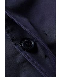 Nanamica Multicolor Gore-tex Soutien Collar Coat Marine Navy for men