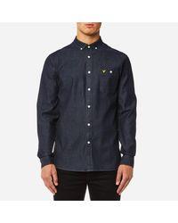 Lyle & Scott Blue Denim Shirt for men