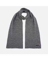 Superdry Gray Orange Label Basic Scarf
