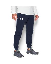 Under Armour - Blue Rival Cotton Joggers -navy for Men - Lyst