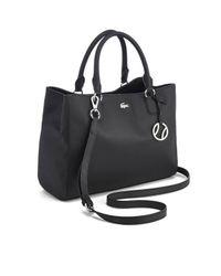 Lacoste Black Women's Large Shopping Bag