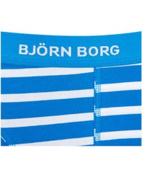 Björn Borg - Blue Three Pack Bb Stripe Boxer Shorts for Men - Lyst