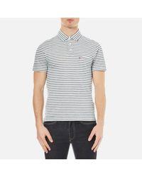Levi's Blue Men's Short Sleeve Sunset Polo Shirt for men