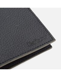 Barbour - Black Grain Leather Wallet for Men - Lyst