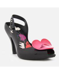 Melissa + Vivienne Westwood Anglomania - Black Lady Dragon 19 Heeled Sandals - Lyst