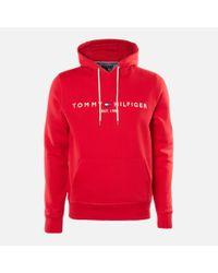 Tommy Hilfiger Red Logo Hoody for men