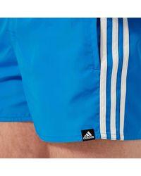 Adidas Blue 3 Stripe Vsl Swim Shorts for men
