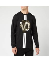 Versace Jeans Black Long Sleeve T-shirt for men