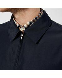 Aquascutum - Blue Cliff Nylon Harrington Jacket for Men - Lyst