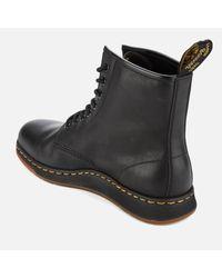 Dr. Martens Black Newton Lite Leather 8-eye Boots