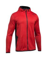 Under Armour - Red Men's Coldgear® Reactor Fleece Full Zip Hoodie for Men - Lyst