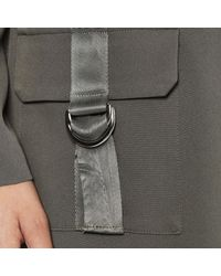 Lavish Alice - Green Cargo Pocket And D-ring Belt Utility Duster Jacket - Lyst