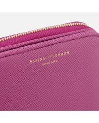 Aspinal Purple Continental Mini Wallet