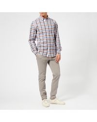 Tommy Hilfiger Blue Multi Check Long Sleeve Shirt for men