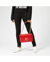 Love Moschino - Red Quilted Shoulder Bag - Lyst