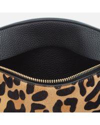 Dune - Black Eharriet Leopard Print Clutch Bag - Lyst