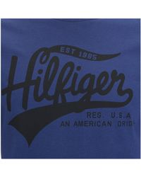Tommy Hilfiger - Blue Organic Cotton T-shirt for Men - Lyst