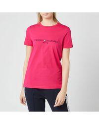 Tommy Hilfiger Pink Essential Hilfiger T-shirt