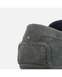 HUGO - Gray Men's Travelling Dandy Suede Moccasin Shoes for Men - Lyst