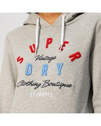 Superdry Gray Applique Overhead Hoodie