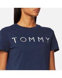 Tommy Hilfiger - Blue Tommy Print T-shirt - Lyst
