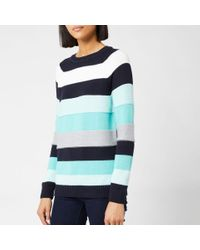 Barbour Blue Overseas Knitted Jumper