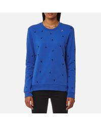 BOSS Orange Blue Women's Tabirdy Sweatshirt