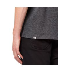 The North Face - Gray Fine Short Sleeve T-shirt for Men - Lyst