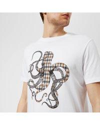 Aquascutum - White Weaver Octo Cc Print Short Sleeve T-shirt for Men - Lyst