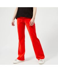 Juicy Couture - Red Velour Del Ray Pants - Lyst
