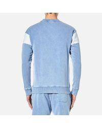 BOSS Orange - Blue Men's Wham Crew Neck Sweatshirt for Men - Lyst
