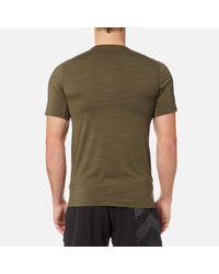 Reebok Green Activchill Zoned Graphic Short Sleeve T-shirt for men