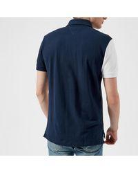 Tommy Hilfiger - Blue Unique Colour Block Polo Shirt for Men - Lyst