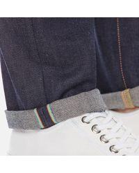 Edwin Blue Men's Ed80 Slim Tapered Rainbow Selvedge Denim Jeans for men